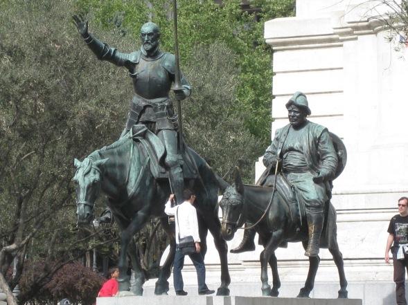 Don Quixote statue in Plaza de Espana